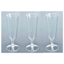 12 Copas Champagne Plástico Desechables Fiesta Brindis Boda