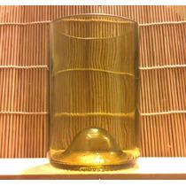 Paquete 4vasos De Botella De Vidrio Ecológicos Y Reciclados