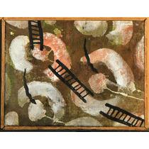 Carlos Rodal Pintura Acrilico Serpientes Y Escaleras 1992