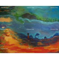 Tierra En Los Pies *dipinto Originale Blu Messico Donna
