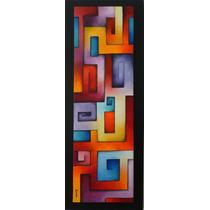 Pintura Acrilica Sobre Tela Laberinto 100x30x4cm