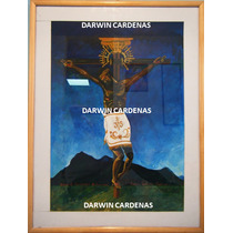 Hermoso Cuadro Cristo Negro Caracuaro Michoacan