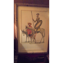Quijote De La Mancha Y Sancho Panza. Firmado D. Dimorin