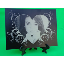 Retratos Grabados Sobre Metal 15 X 20 Cms. ¡personalizados!