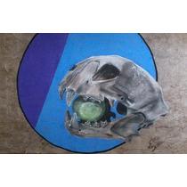 Jaguar Sagrado -dibujo Pastel Sobre Papel Amate Prehispanico