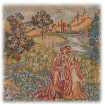 Gobelino Italiano 50x50 Cm Romanticismo Dal Fiume