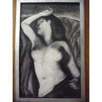 Pintura Desnudo A Lápiz Autor Ronaldo Paredes 48x75 Cm