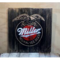 Letrero Vintage Cerveza Miller, Guinnes, Heineken, Stella...