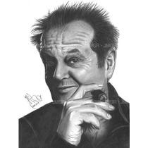 Arte Dibujos Retratos A Mano Con Lapiz De Grafito Boligrafo