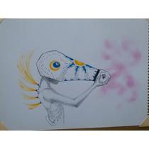 Dibujo A Mano Alzada Mascara De Caballo