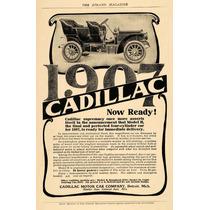 Lienzo En Tela Anuncio Automóvil Cadillac 1907 80 X 50 Cm