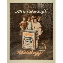 Cuadro Tela Publicidad Kellogg Corn Flakes 1912 70 X 50 Cm