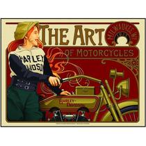 Cuadro En Tela Art Of Harley Davidson 1917 90 X 115 Cm
