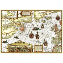 Mapa Oceano Atlántico Del Norte 1592 50 X 70 Cm