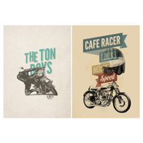 Poster Clásico Motocicletas Café Racer 2 Medidas 42 X 62 Cm