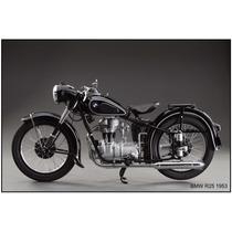 Poster Motocicleta Bmw R25 1953 50 X 75 Cm