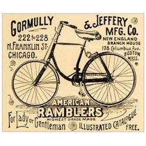 Cuadro Tela Bicicletas American Ramblers 1891 47 X 57 Cm