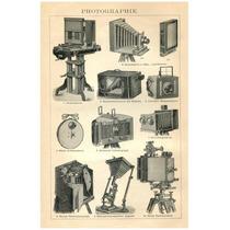 Poster Cámaras Fotográficas, Equipo Antiguas 1900 77 X 50 Cm