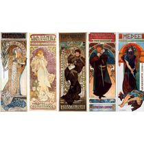 Cuadro Tela Art Deco Posters Obras De Teatro Mucha 1894-99