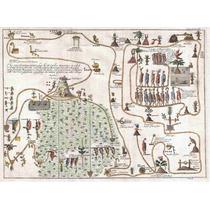 Cuadro En Tela Migración Azteca Aztlán A Chapultepec 1704