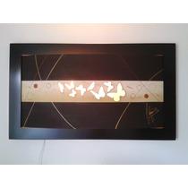 Cuadro Curvo Corte Laser Con Luz , Envio Gratis