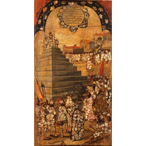 Cuadro Tela Tabla 13 De 22 Conquista Imperio Azteca 90 X 50