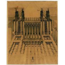 Cuadro En Tela Planos Arquitectura 1914 Sant Elia 62 X 50 Cm