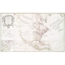 Lienzo Tela Mapa Norte América 1763 50 X 81 Cm
