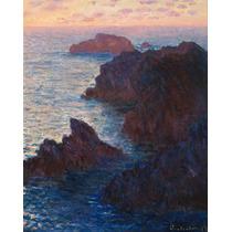 Lienzo En Tela Claude Monet Rocas En El Belle-lle 63 X 50 Cm