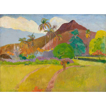Lienzo En Tela Paul Gauguin Paisaje Tahitiano 50 X 68 Cm