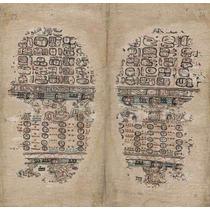 Cuadro Tela Códice Paris Maya Siglo 15 Últimas Páginas 50x46