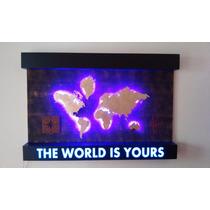 Cuadro Decorativo Con Luz Led Y Corte Laser Envio Gratis