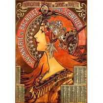 Lienzo Tela Art Deco Anuncio Jabón De Baño Mucha 1897 72x50
