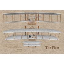 Lienzo Tela Avión Hermanos Wright 1903 The Flyer 50 X 72 Cm