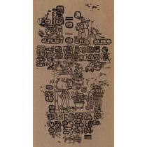 Lienzo Tela Códice Paris Maya Siglo 15 Página 3 90 X 50 Cm