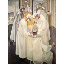 Lienzo Tela Cirugía En Arte Operación Quirúrgica 1934 67 X50