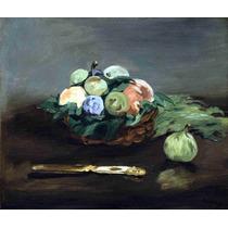 Lienzo Tela Edouard Manet Canasta De Frutas Arte Pintura