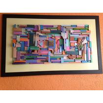 Cuadro Decorativo De Trozos De Madera