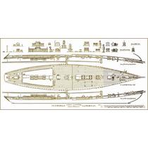 Lienzo Tela Plano Barco Bluenose 2 Canadá 1922 45 X 90 Cm