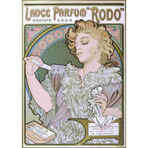 Lienzo Tela Art Deco Anuncio Perfume Rodo Mucha 1896 71 X 50