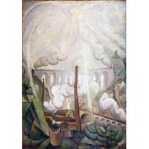 Lienzo Tela El Sol Través De La Niebla Diego Rivera 1913