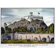 Lienzo Tela Grabado Colegio Militar Chapultepec 1847 50 X 70