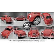 Lienzo Tela Volkswagen Sedan 1300 Cc Alemania 1963 50 X 90cm