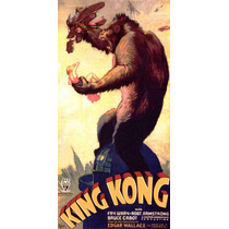 Lienzo Tela Poster Película King Kong 1933 90 X 45 Cm Cine