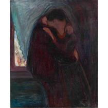 Lienzo Tela Pintor Edvard Munch El Beso 1897 63 X 52 Cm