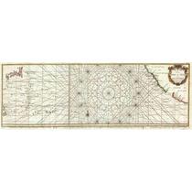 Lienzo Tela Carta Marítima Manila Acapulco 1751 33 X 90cm