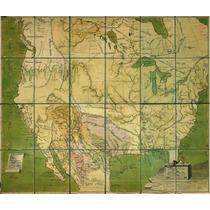 Lienzo Tela Plano Provincias Nueva España Año 1817 50 X 60cm