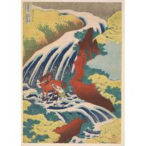 Lienzo Tela Cascadas Por Katsushika Hokusai 71 X 50 Cm