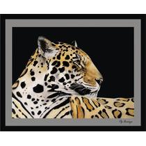 Cuadro Decorativo Pintura Al Oleo Jaguar