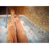 Sensual Cuadro Bublle Bath Oleo De Poblette